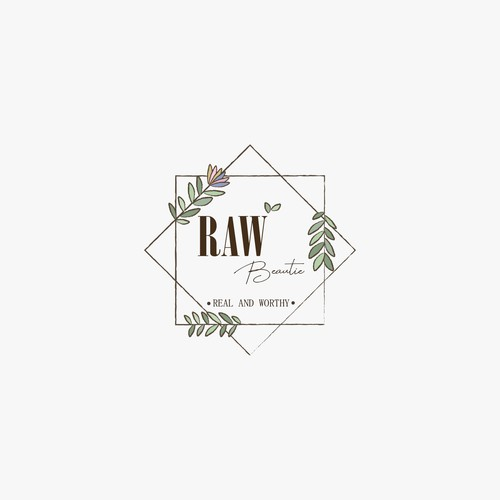 Soft and Aesthetic logo for RAW Beautie