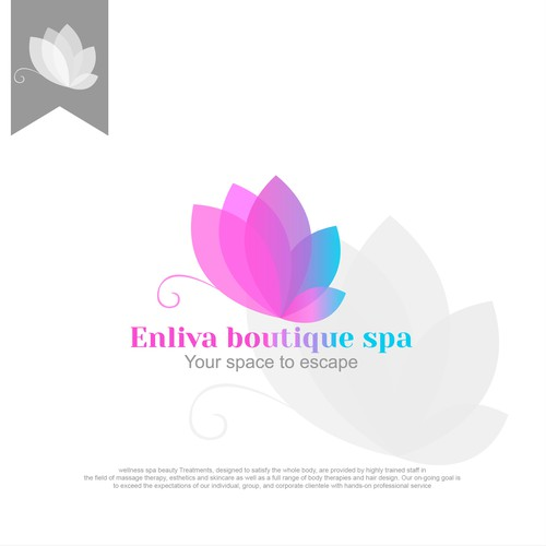 logo concept for Enliva Boutique Spa