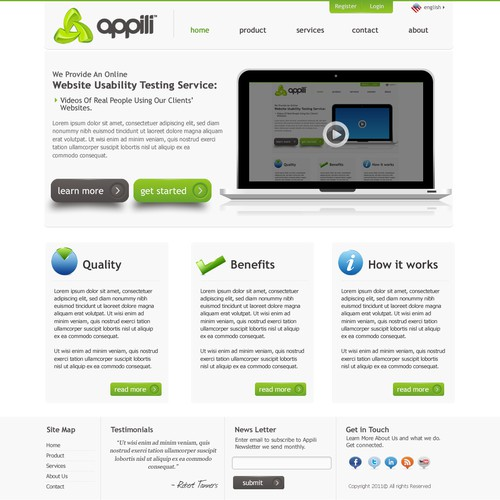 Appili needs a new website design