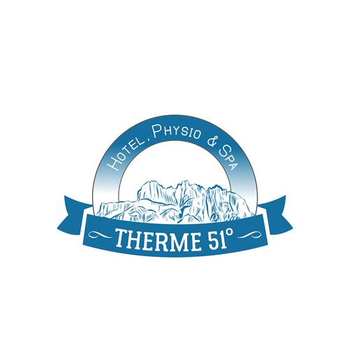 Logo concept for a thermal spring