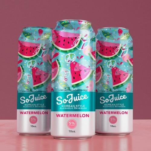 Watermelon Flavor Alcoholic Beverage