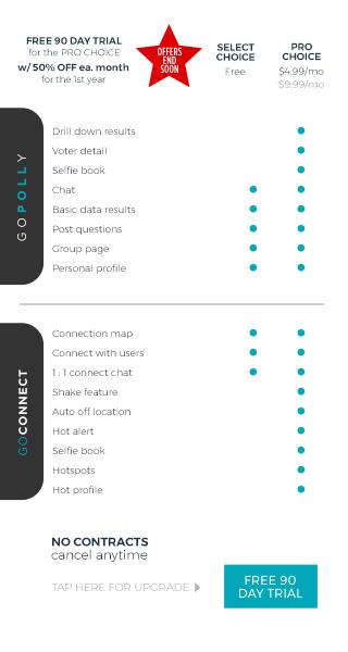 GO POLLY & CONNECT upgrades
