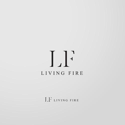 Luxury logo for Living Fire