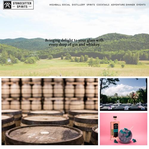 Squarespace Website for Craft Distillery // Stonecutter Spirits Vermont