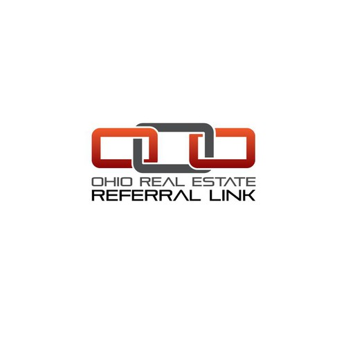 Convey a complex message in a concise logo for Ohio Real Estate Referral Link!