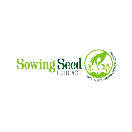 Logo design for Sowing Seed Podcast