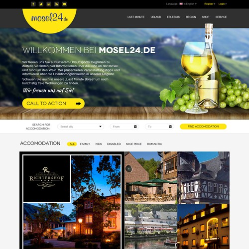 Amazing Webdesign contest - Mosel24