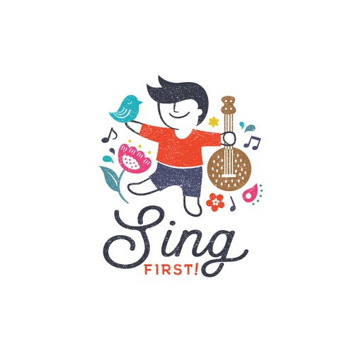 A unique logo for a music/movement learning company