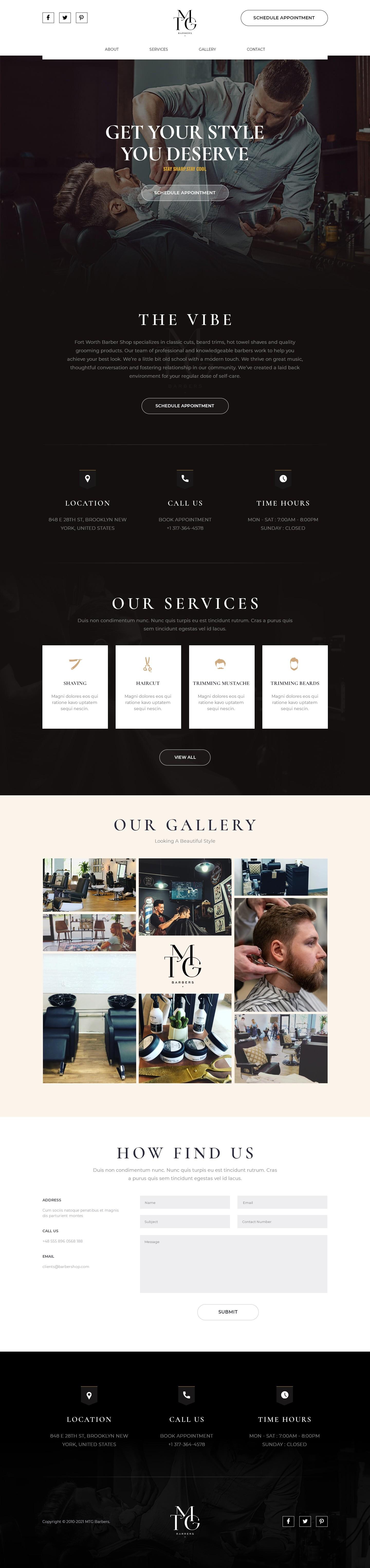 Barber Website for Cool Brand