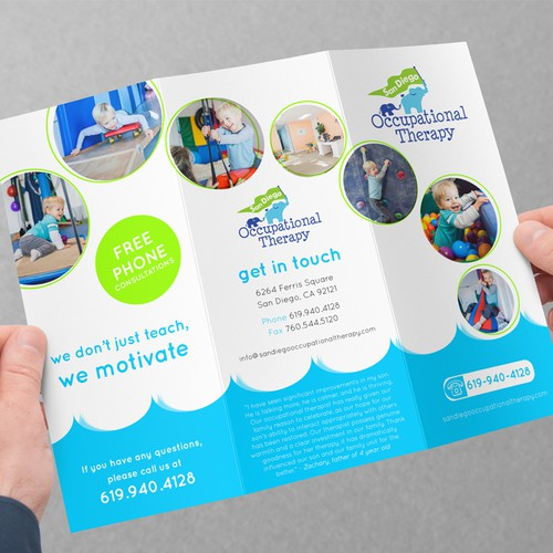 Brochure for Pediatric Therapy Clinic