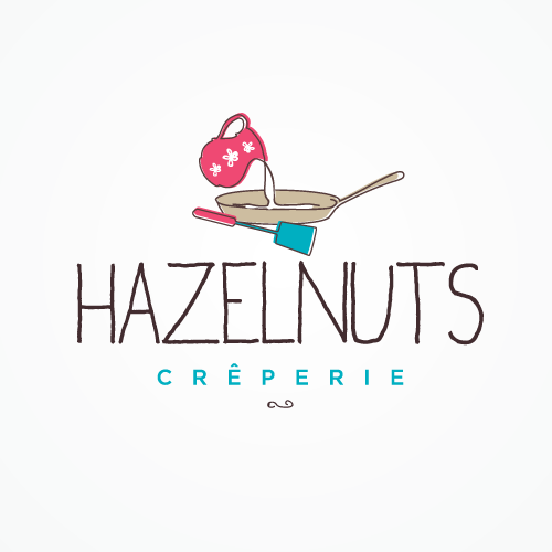 HAZELNUTS Crêperie Logo