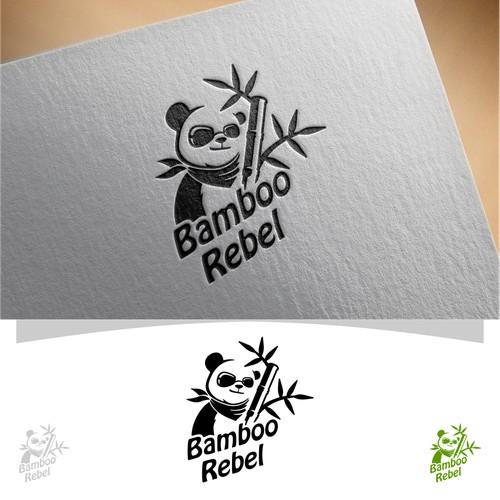 cool logo for Bamboo Rebel