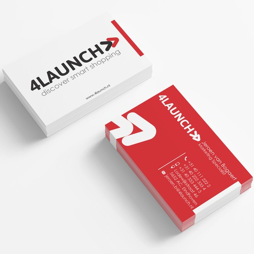 Clean Business card for 4Launch