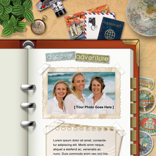 """**ONE PAGE** TRAVEL/VACATION THEME """"WEBSITE"""""""