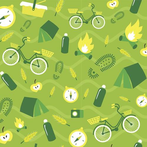 Summer green pattern