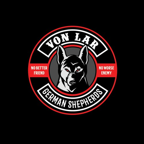 Von LAR German Shepherds bad ass logo