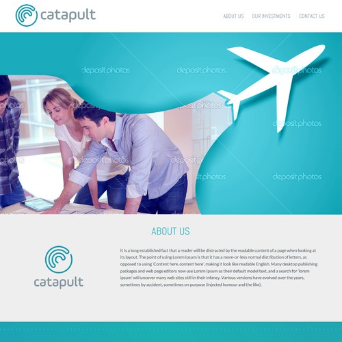 Web Page Design for Venture Capital Firm
