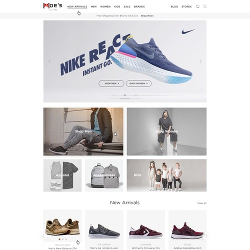 Design a Footwear Website that is different/better than the rest.