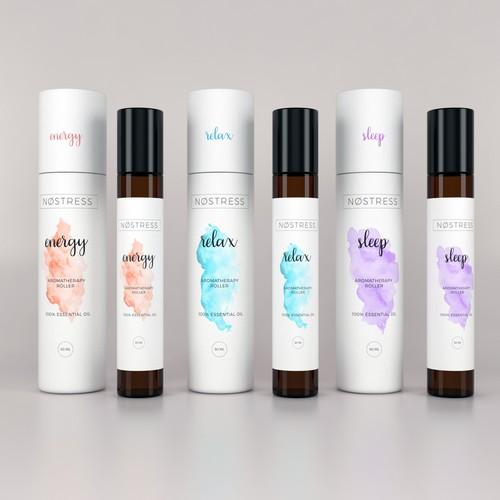 Premium packaging design for wellness brand NOSTRESS