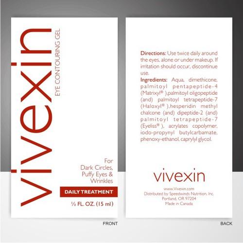 Premium Eye Gel Label Design - GUARANTEED - LOTS OF FEEDBACK