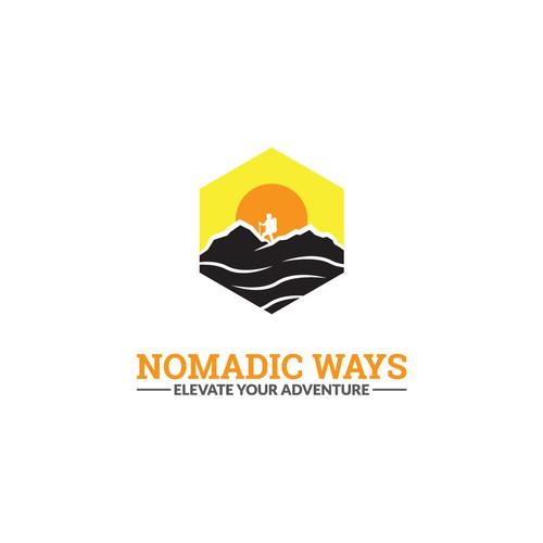 Bright logo for Nomadic Ways