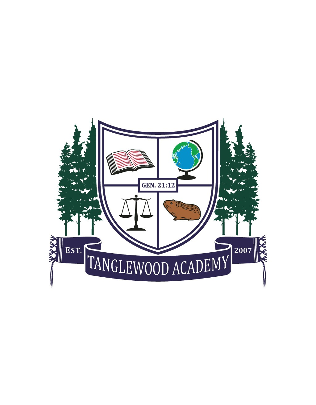 """""""Tanglewood Academy"""" - needs a school crest/coat of arms (now we know what we like)"""