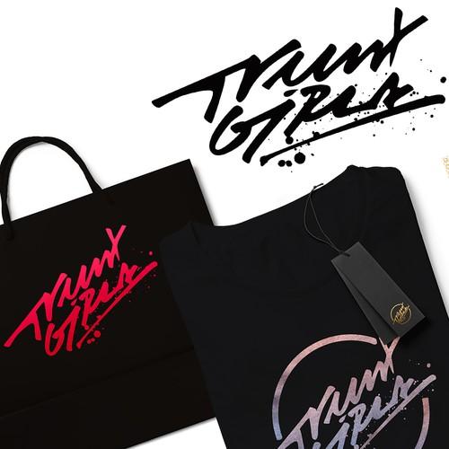 Custom typography for Trunx Girls
