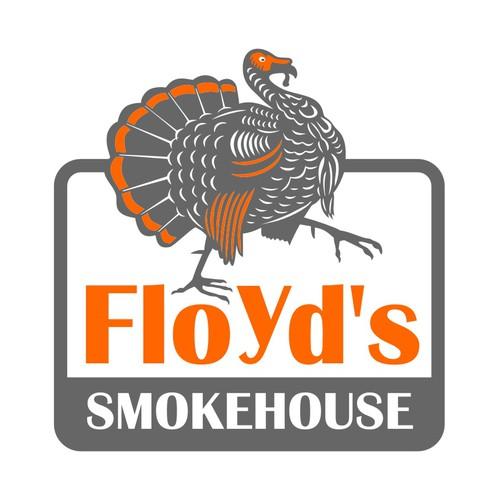 Create the next logo for Floyd's Smokehouse