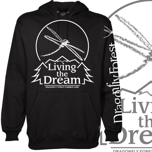 Living The Dream Camp hoodie design