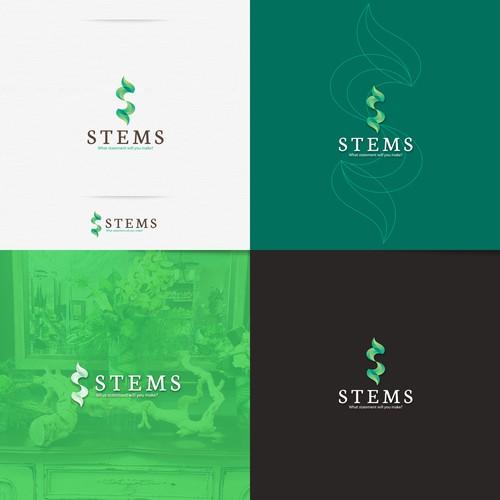 Stems Logo design