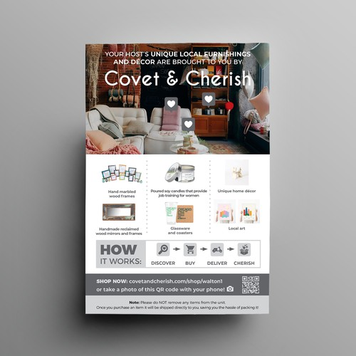 Marketing flyer for home decor products