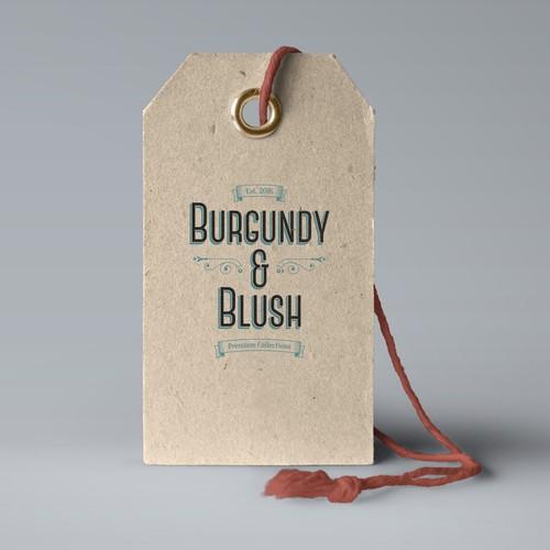 burgundy & blush logo