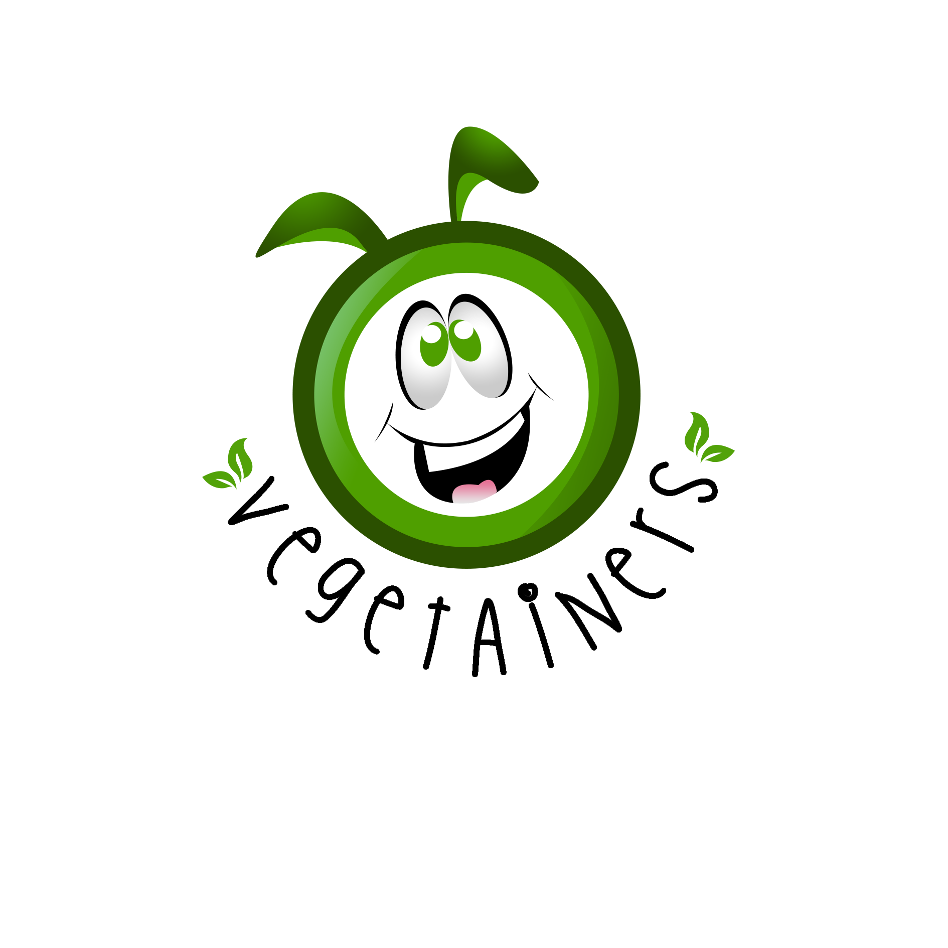 Logo for Vegetainers- an eco friendly biodegradable reusable container brand.