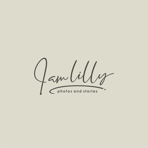 simple+personal Logo Design for a female Photographer and Storyteller