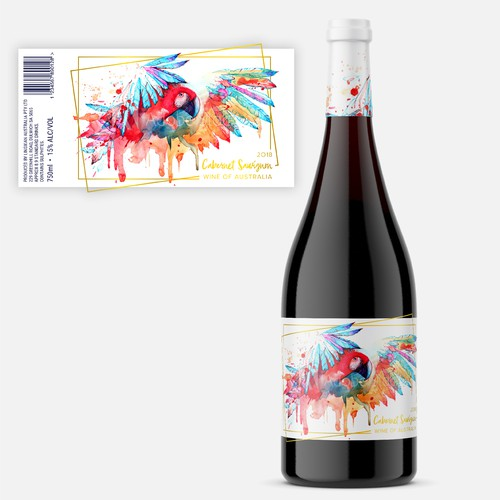 Eye-catching wine label