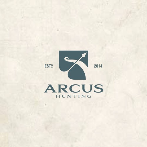 Create a unique bowhunting/archery logo for Arcus Hunting
