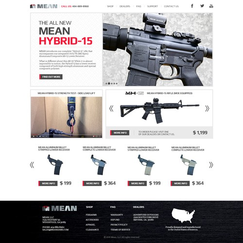 Website design for MEAN Arms
