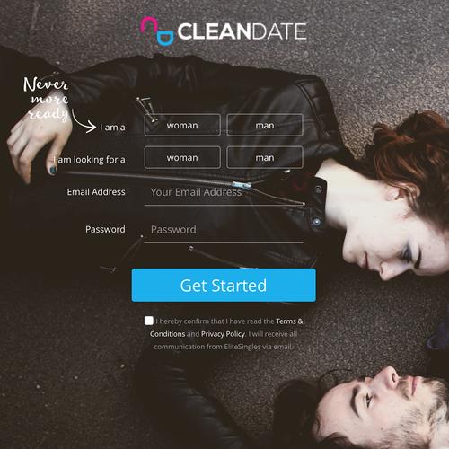 CleanDate Logo & Landing Page
