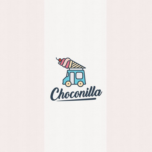 Logo design for an ice cream truck