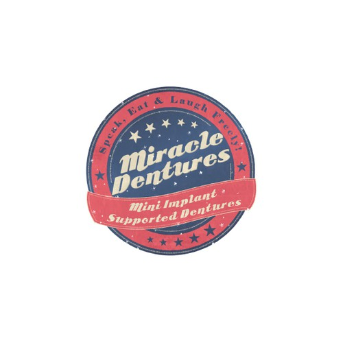 VINTAGE or RETRO new logo for Miracle Dentures