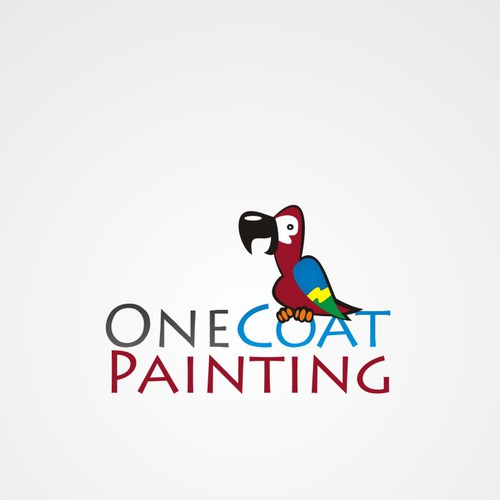 One Coat Painting needs FUN and COLOR in a new LOGO. Can you Help?