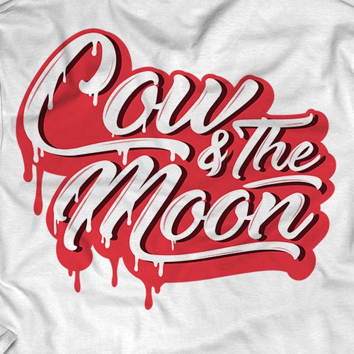 Typographic Design for Cow and the Moon