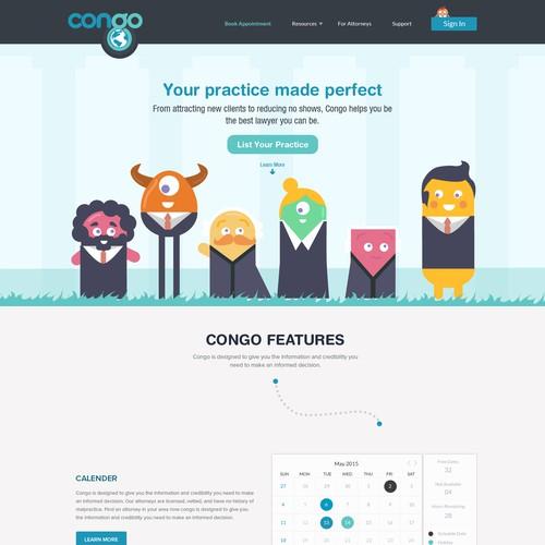 Web Design Concept For Attorney