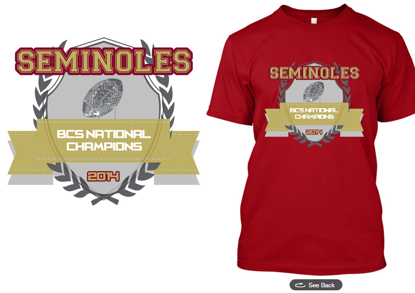 Create a winning design for the BCS National Championship Game