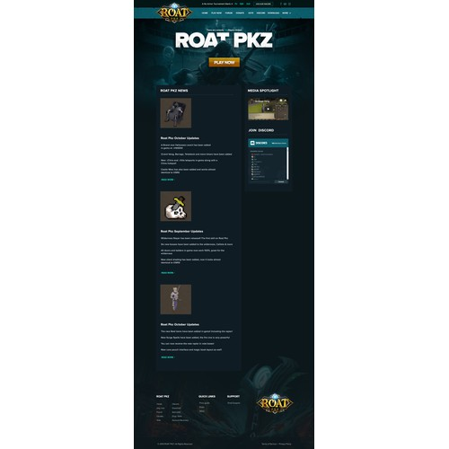 ROAT PKZ Web gaming design