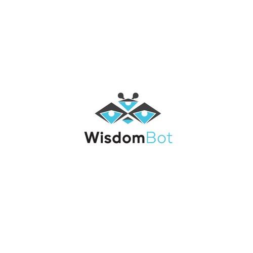 WisdomBot Brand Logo Design