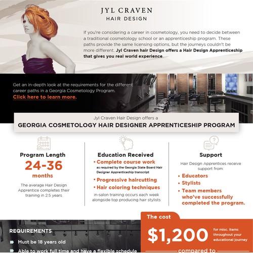 Hair Designer Apprenticeship program