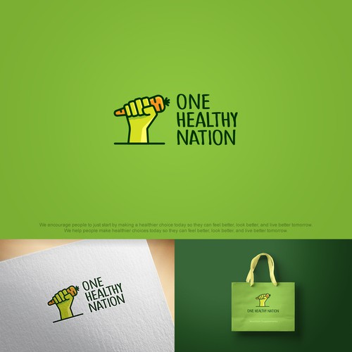 Example of a logo concept made for a nutrition company