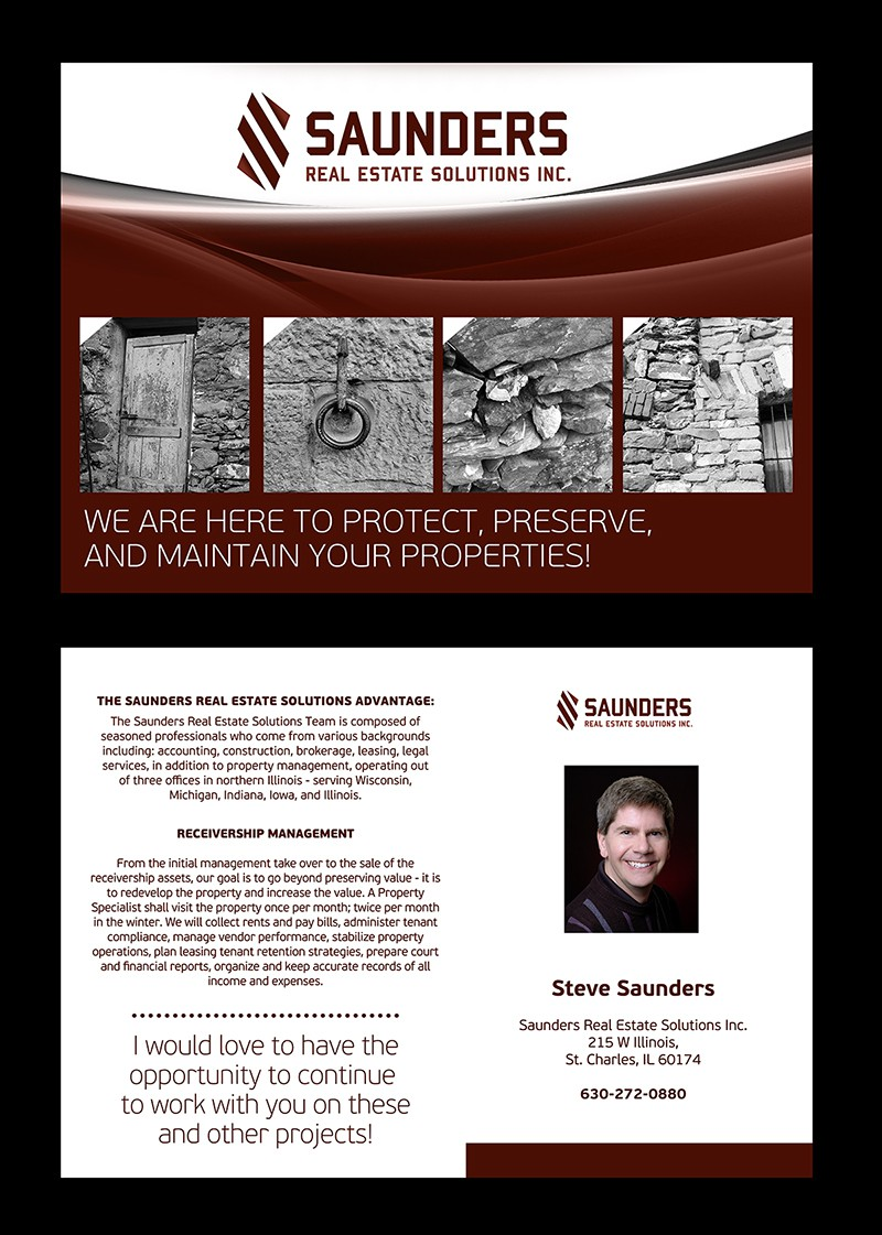 Help Saunders Real Estate Solutions with a new postcard, flyer or print