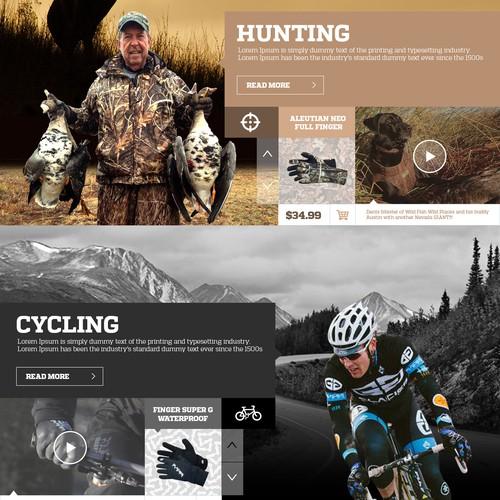 Webdesign for outdoors-Glacier Glove